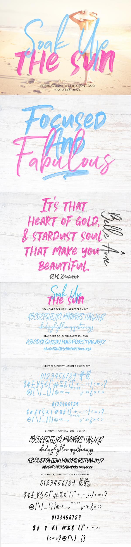 Soak Up The Sun Font Duo + SVG Free Font