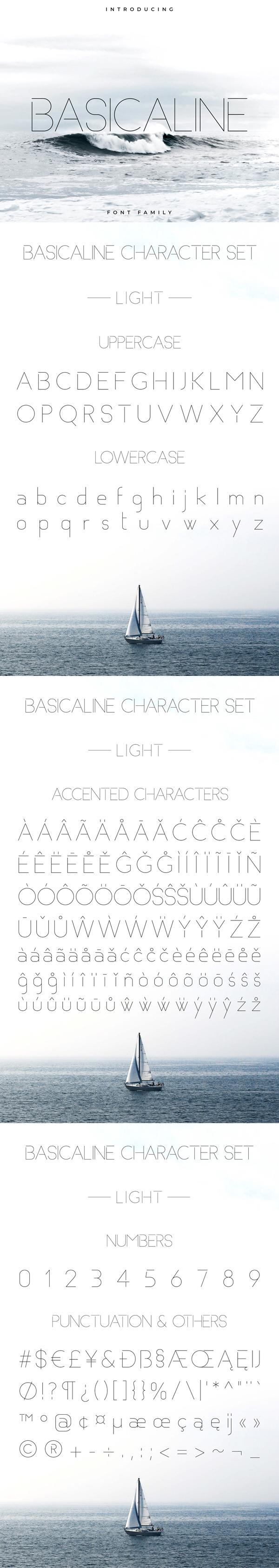 Basicaline Sans serif Free Font