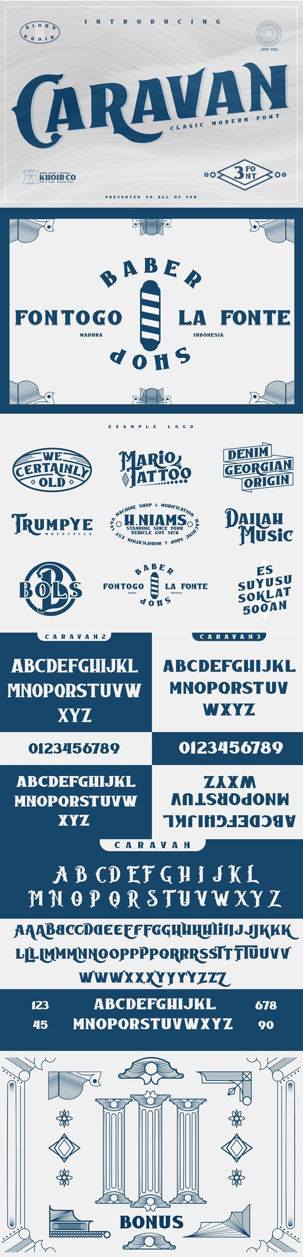 Caravan - Display Free Font