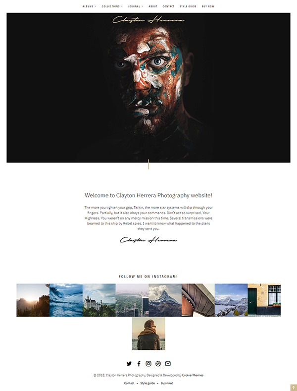 Clayton, an Elegant Theme for Photographers