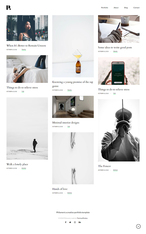 Philament - Creative Photography/Portfolio WordPress Theme