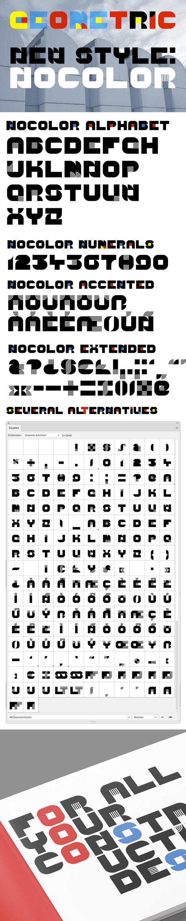 Geometric NoColor Free Font