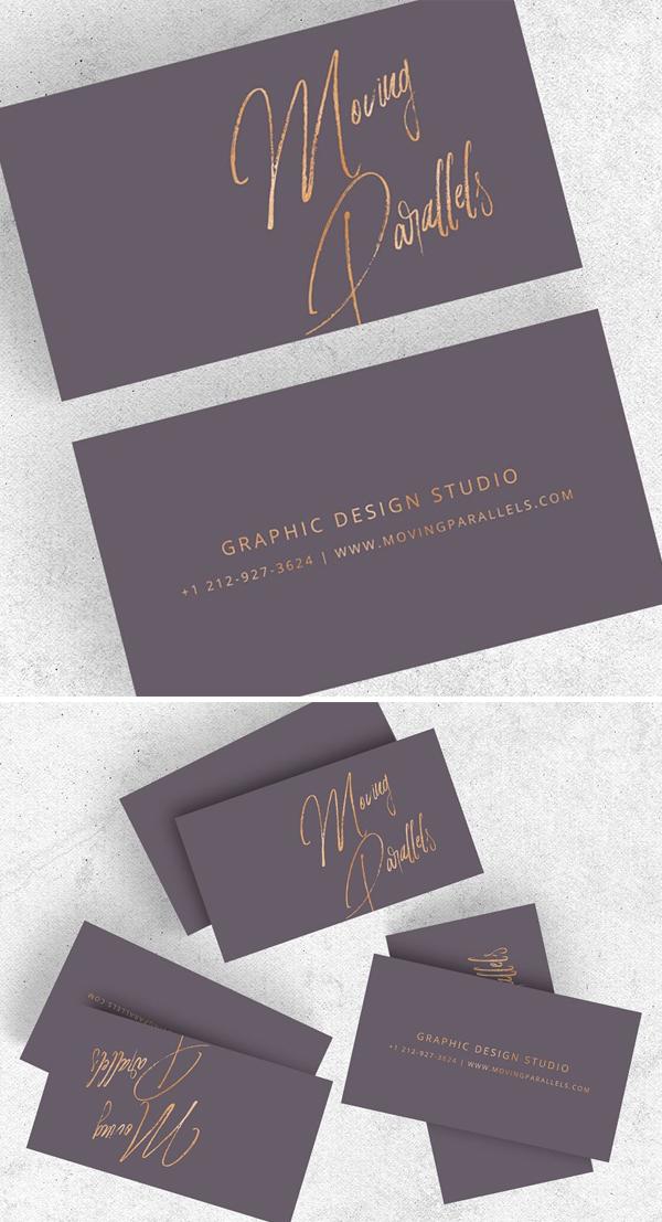 Elegant Gold Minimal Business Card