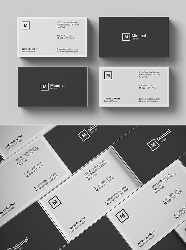 Attractive Minimal Business Card Template