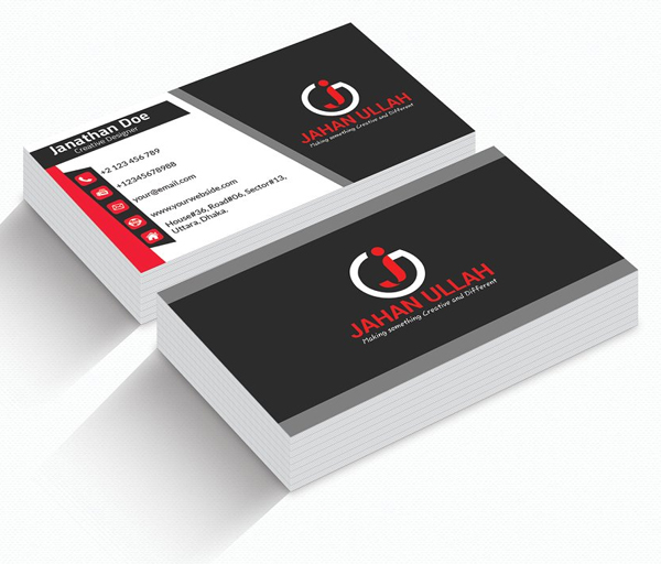 Corporate Business Card Template Design