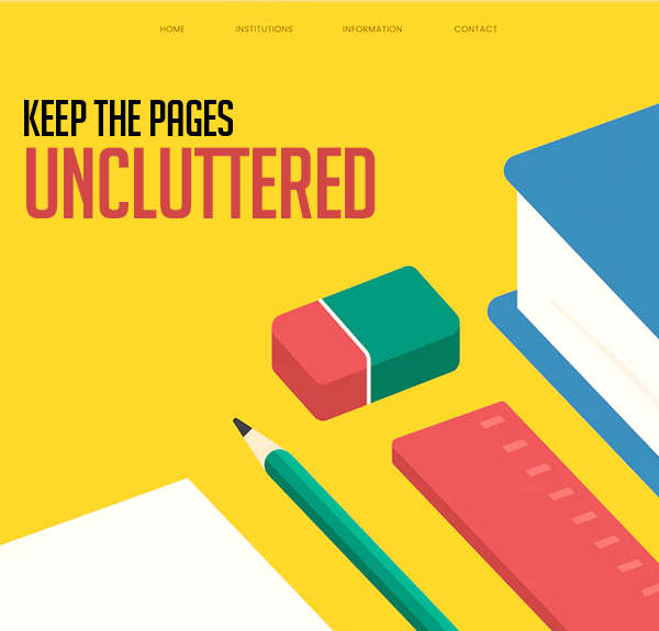 Keep the Pages Uncluttered