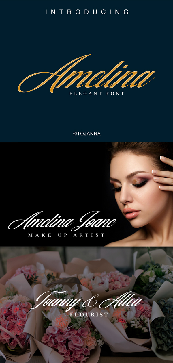 Amelina Free Script Font