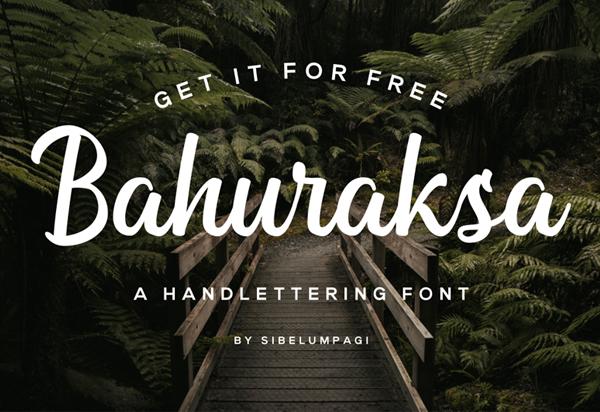 Bahuraksa Script Free Font