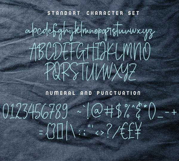 Bersihkan - Watercolor Signature SVG Free Font Letters