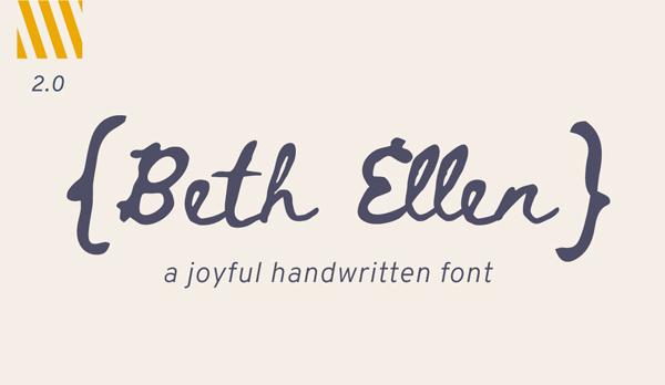Beth Ellen Handwritten Free Font