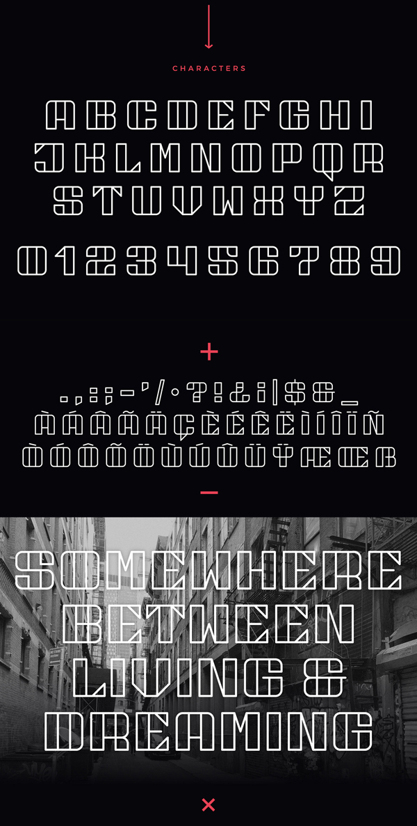 NY Bricks Free Font Letters