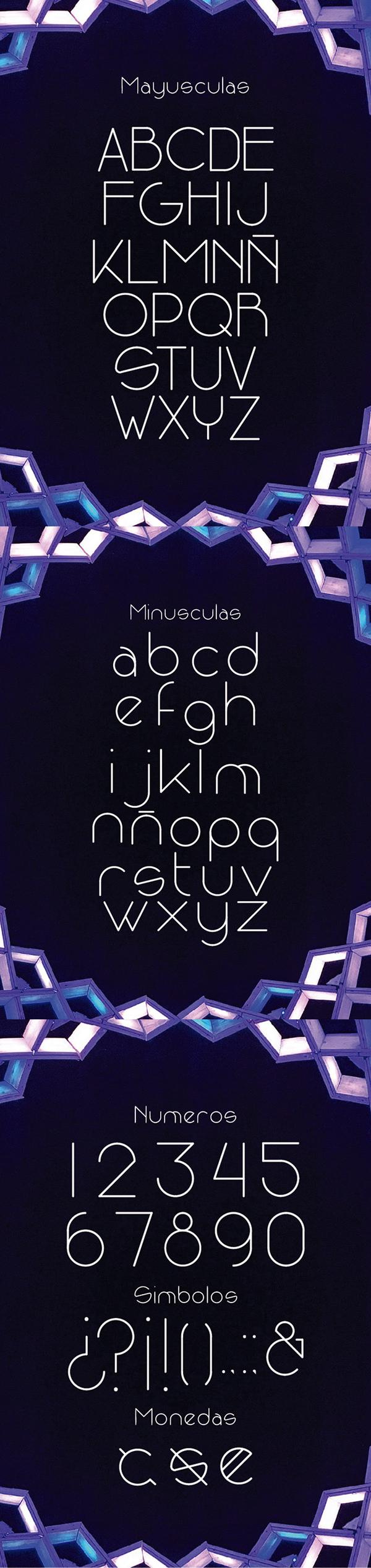 Niqueo Free Font Letters