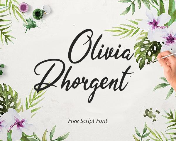 Olivia Dhorgent Script Free Font