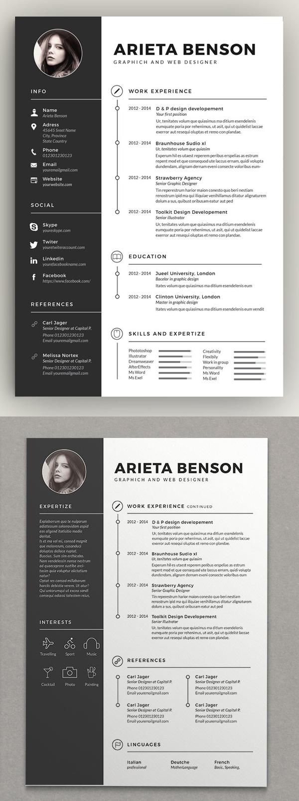 Clean Cv-Resume Design Template