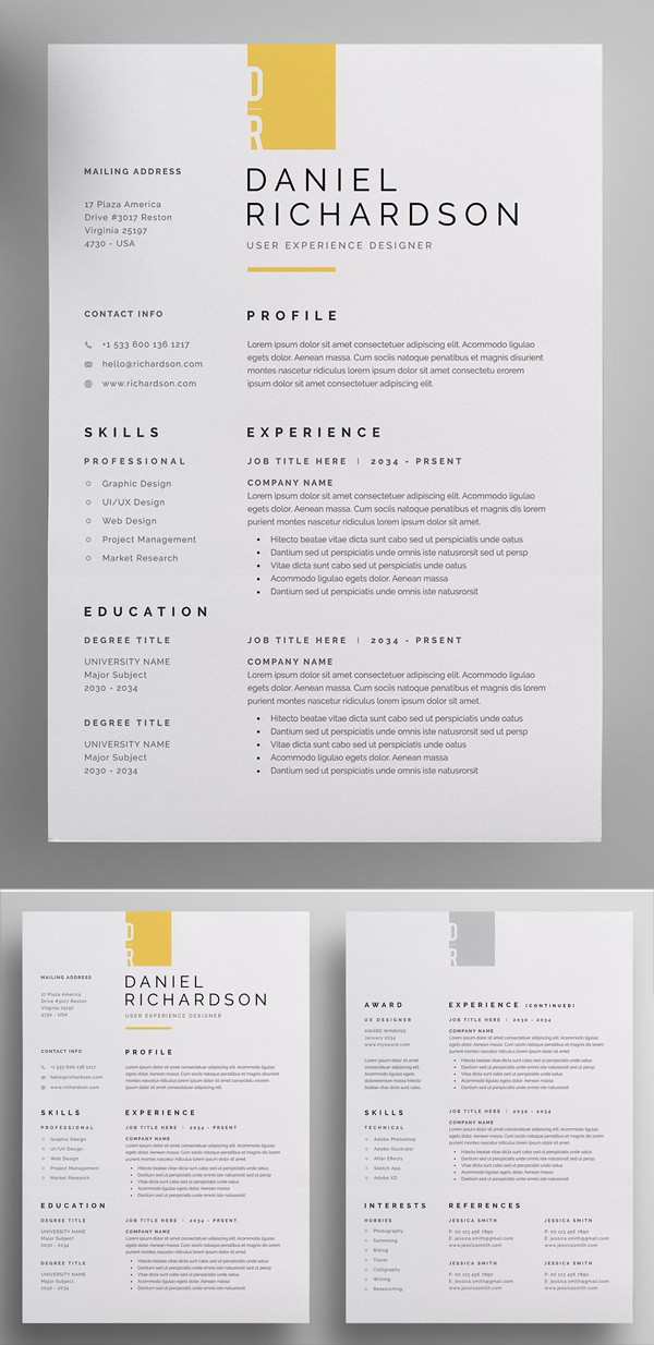 Awesome Resume / CV Template