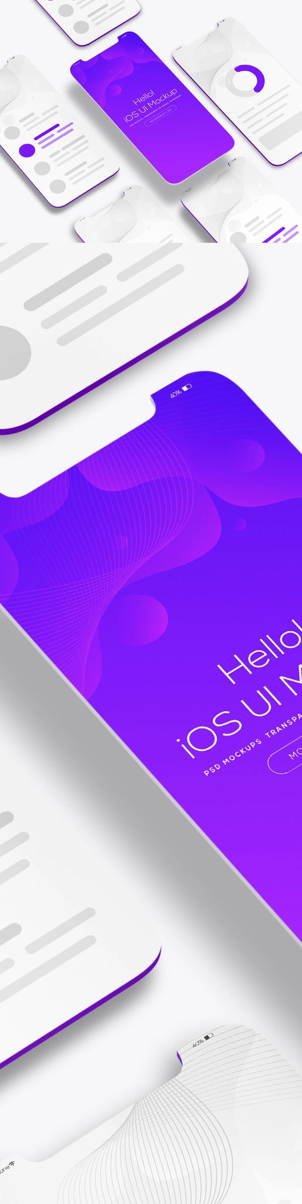 Free Ui Design Isometric Mockup