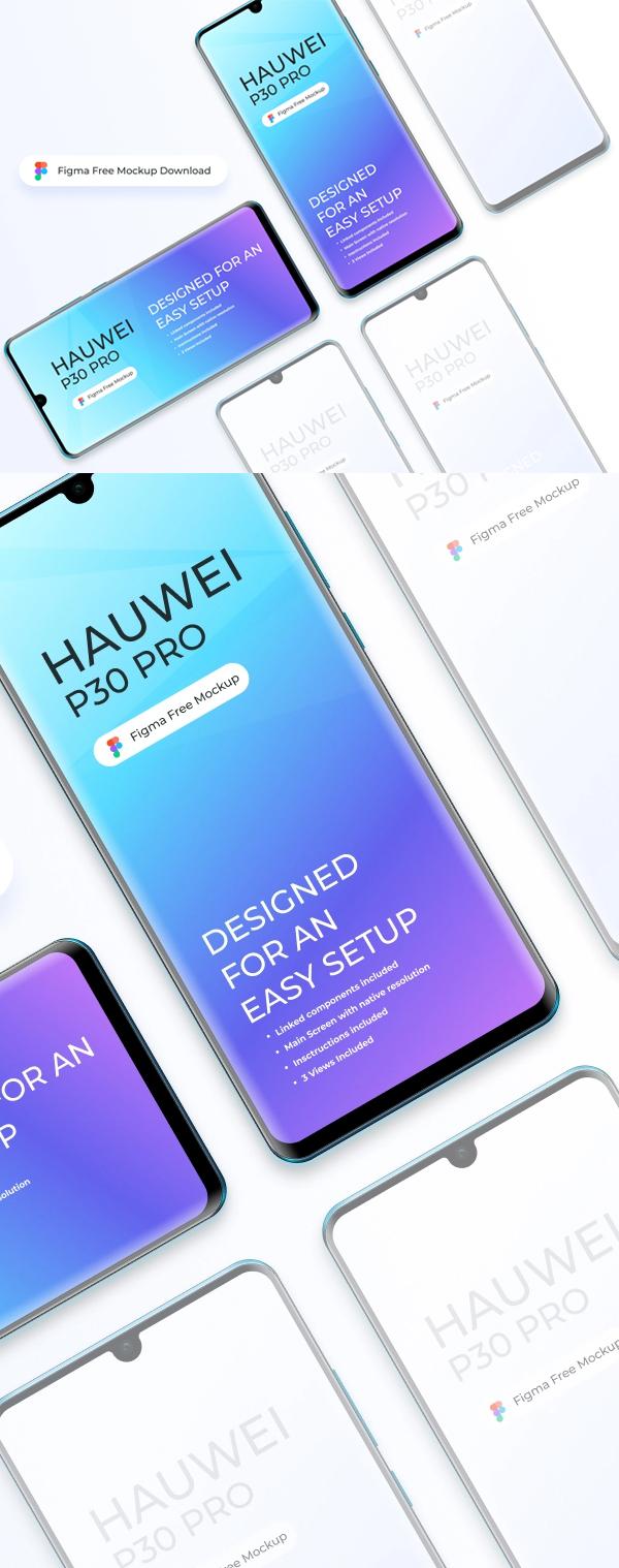 Free Huawei P30 Pro Mockup