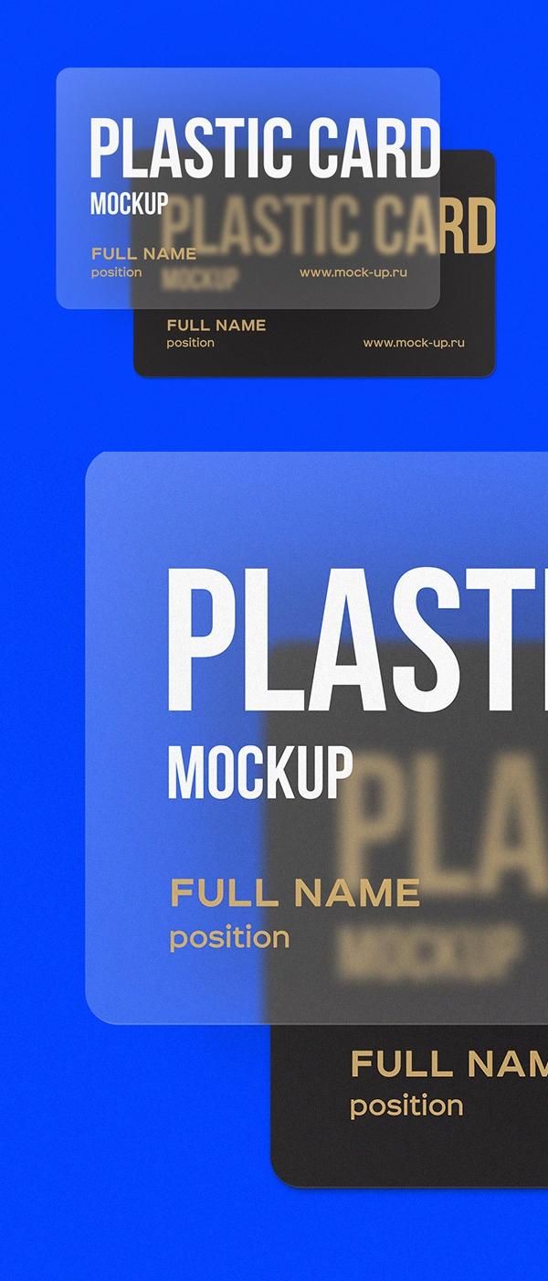 Free Plastic Card Mockups