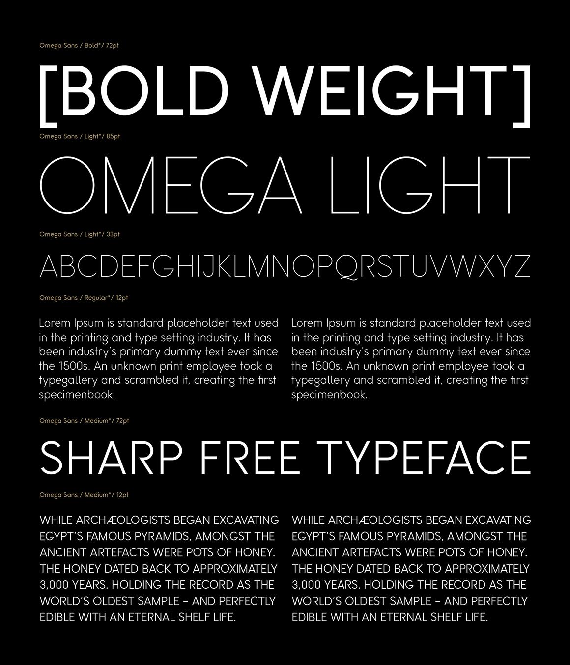 Omega Sans Preview 01
