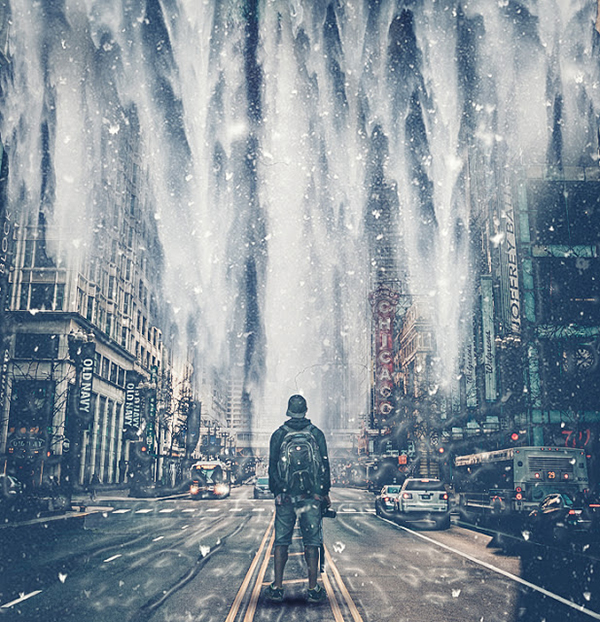 How to Create Snowfall Manipulation in Photoshop Tutorial