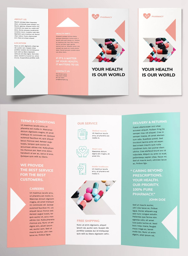 Pharmacy Brochure Trifold