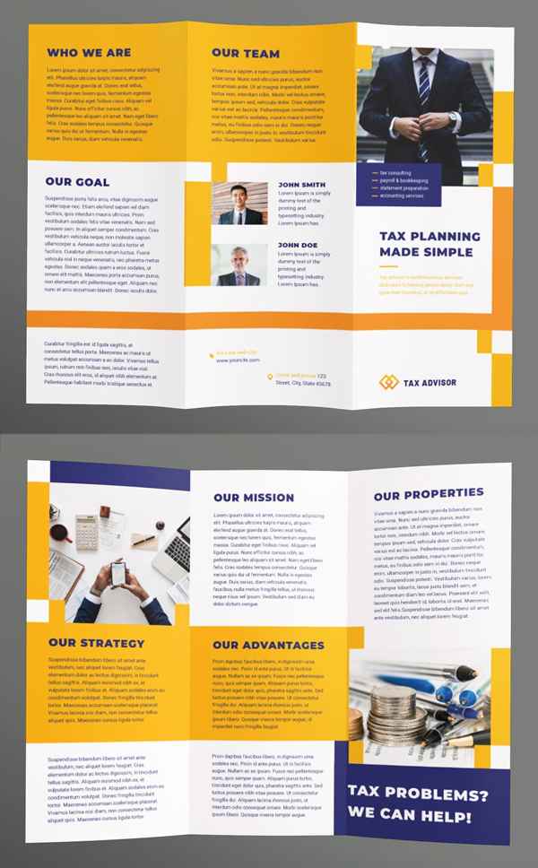 Tax Advisor Brochure Trifold