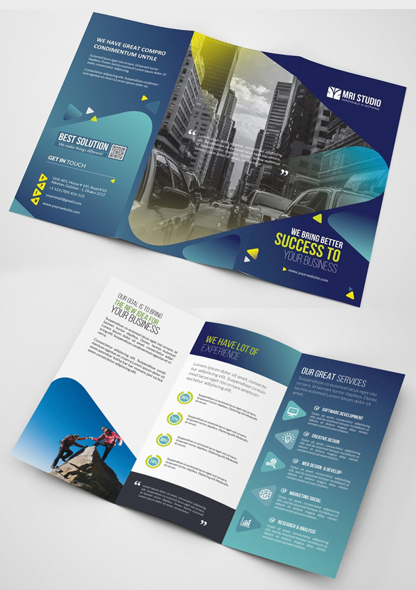 Business Tri-Fold Brochure Templates