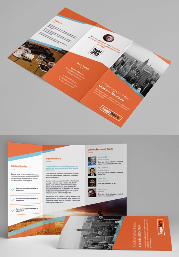 Fresh and Clean TriFold Brochure