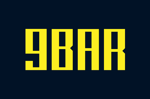 9BAR Free Font Design