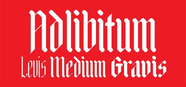 Adlibitum Free Font Design