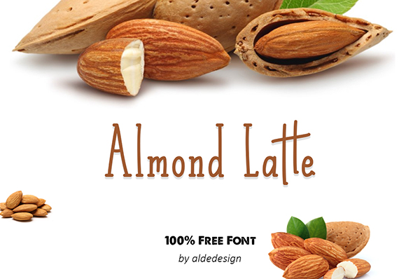 Almond Latte Free Font Design