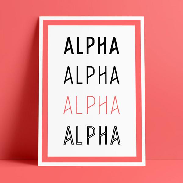 Alpha Free Font Design