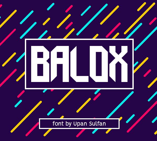 Balox Free Font Design
