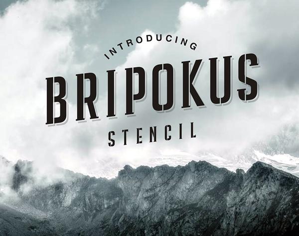 Bripokus Stencil Free Font Design