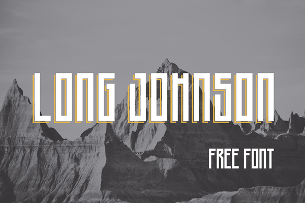 Long Johnson Free Font Design