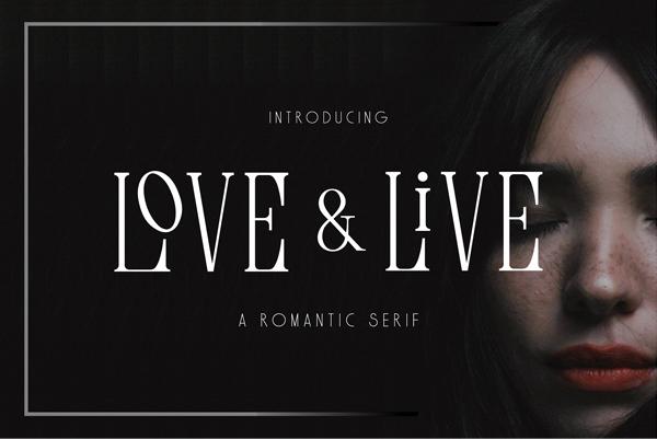 Love & Live Free Font Design