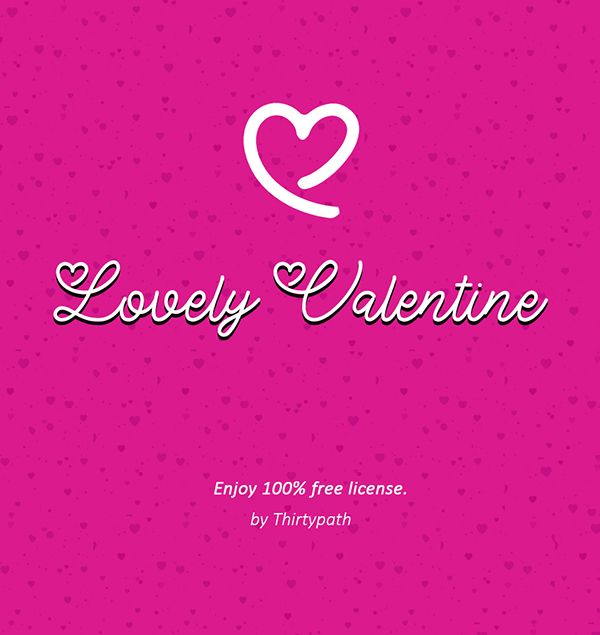Lovely Valentine Free Font Design