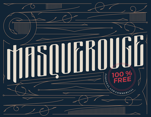 Masquerouge Victorian Style Free Font Design