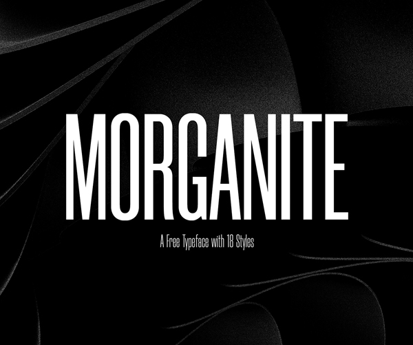 Morganite Free Font Design
