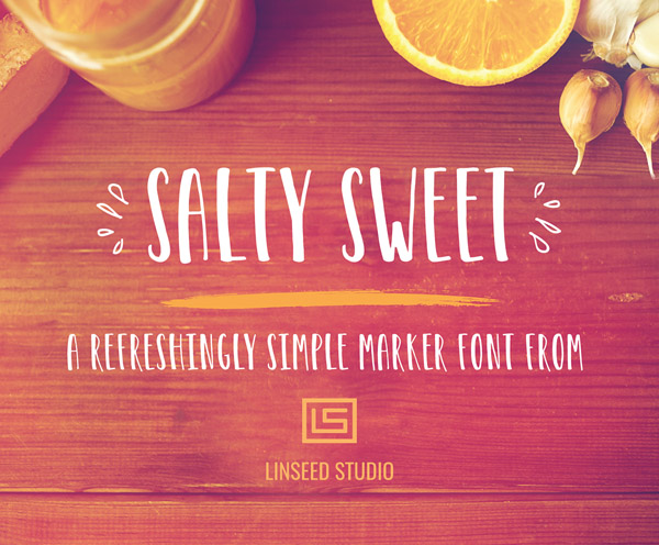 Salty Sweet Free Marker Font Design