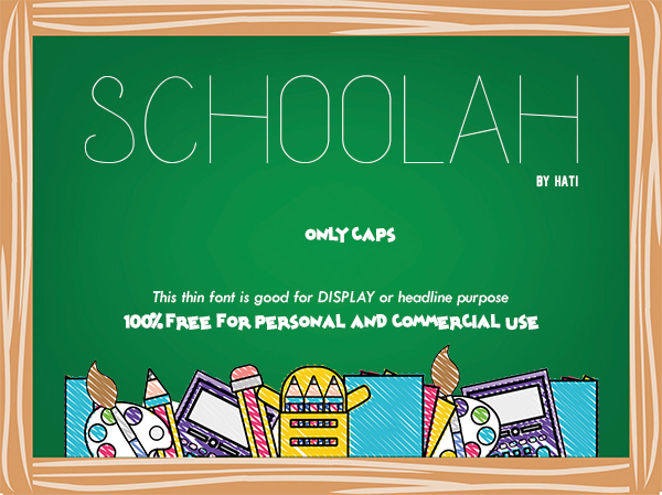 Schoolah Free Font Design