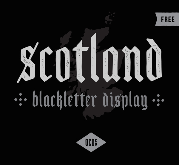Scotland Display Free Font Design