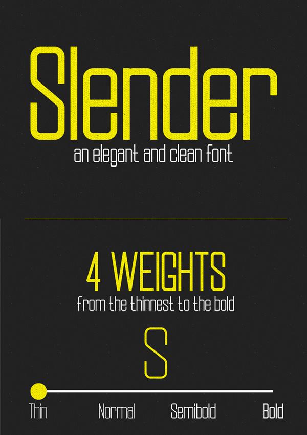 Slender Free Font Design