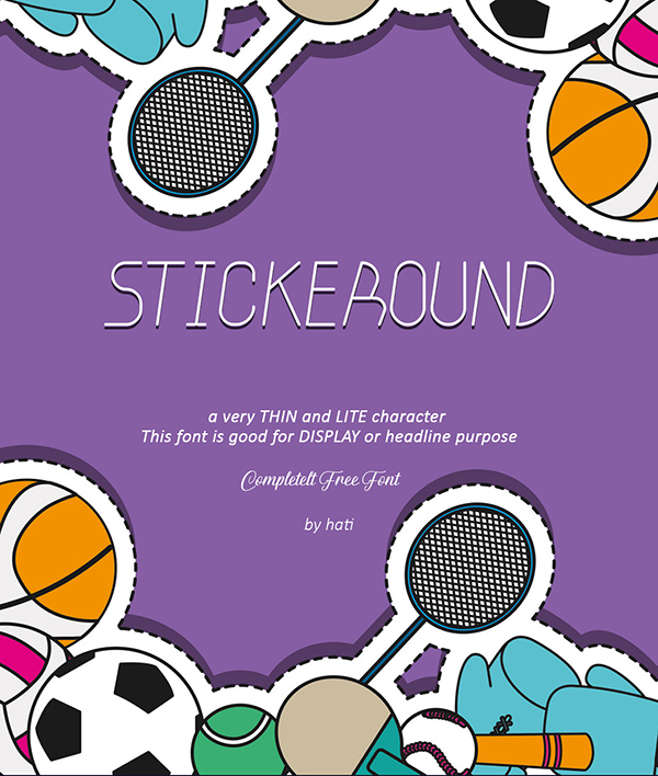 Stickeround Free Font Design