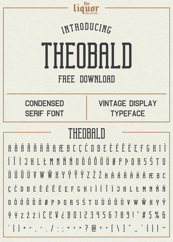 Theobald Free Font Design