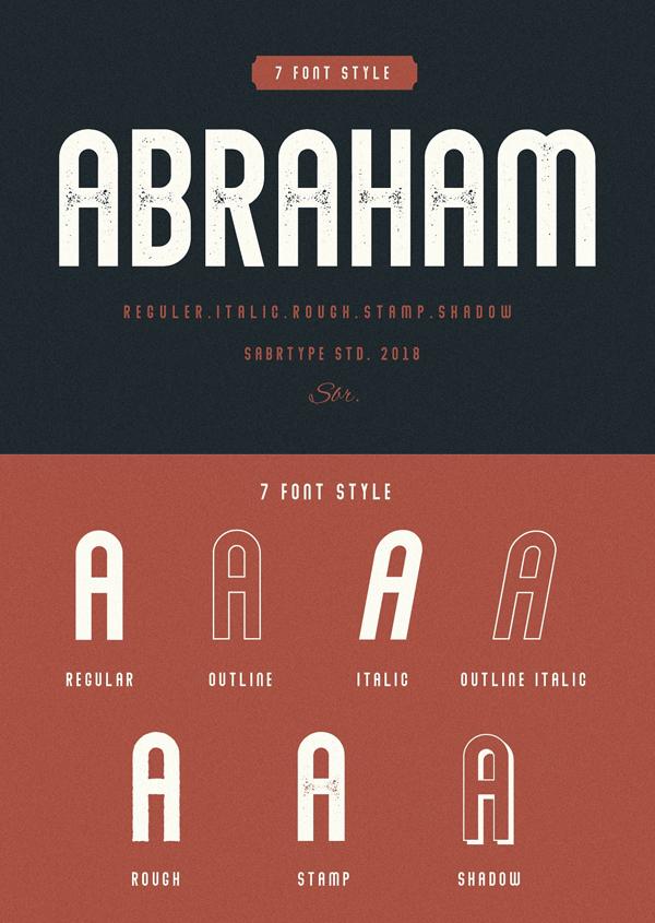 Abraham Free Font Design