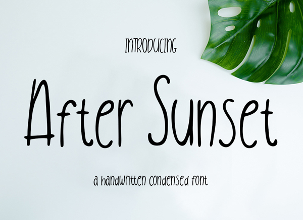 After Sunset Free Font Design
