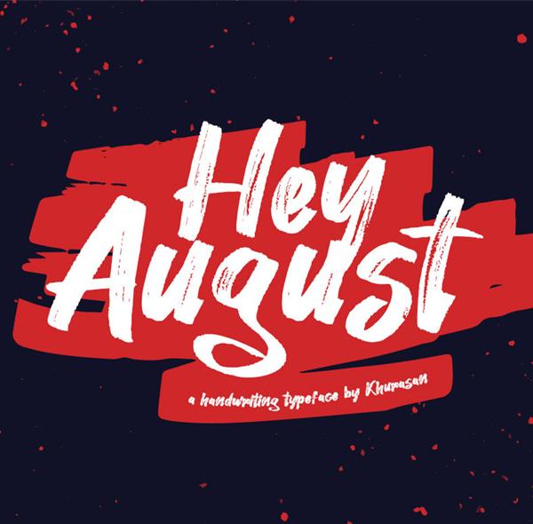 August Handwritten Free Font