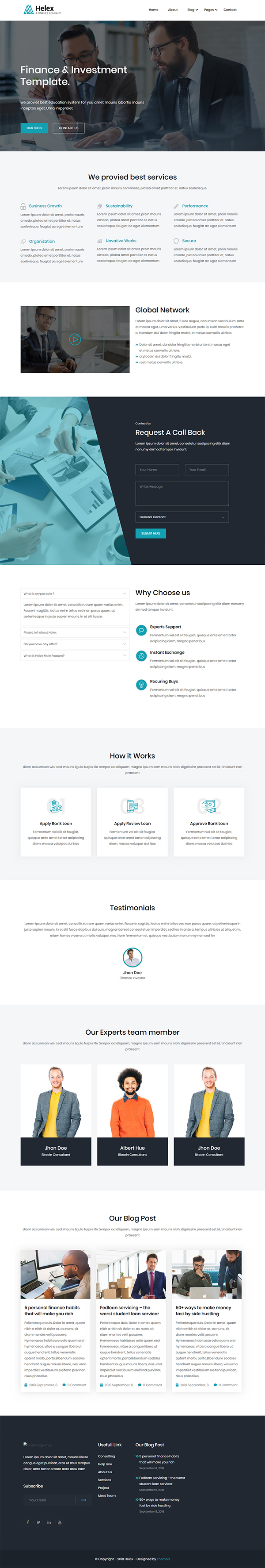 Helex - Corporate WordPress Theme