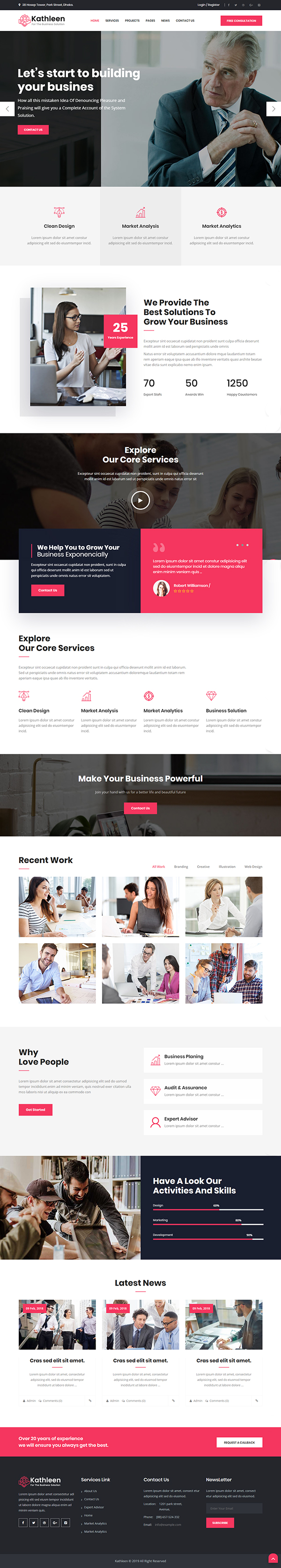 Kathleen - Business Consulting WordPress Theme